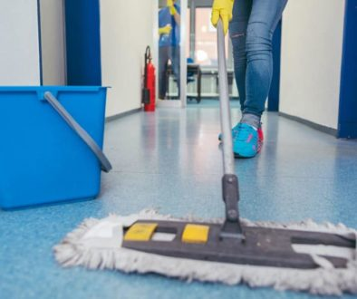 crew cleaning with hospital-grade disinfectants